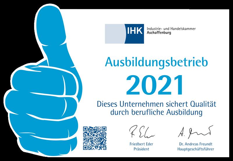 IHK - Ausbildungsbetrieb 2021